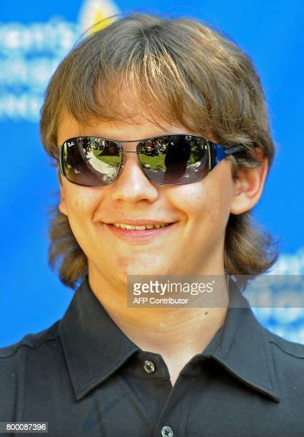 Michael Jackson's son Prince Jackson attends a ceremony honoring his father at Childrens Hospital in Los Angeles California August 8 2011 Michael...