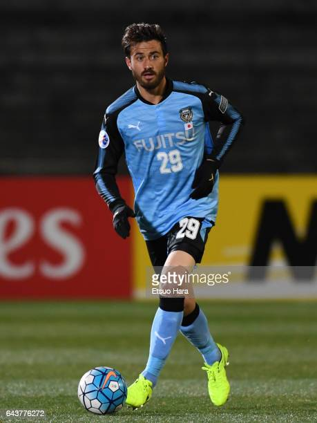 Michael James of Kawasaki Frontale in action during the AFC Champions League Group G match between Kawasaki Frontale and Suwon Samsung Bluewings at...