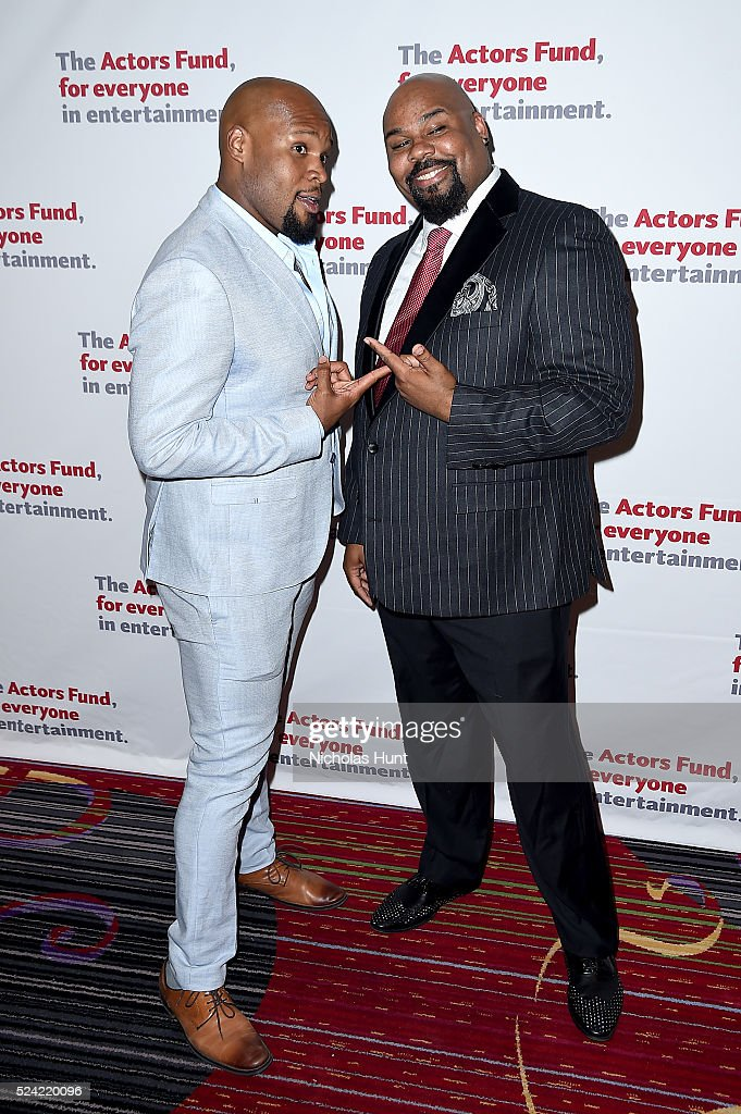 Michael James Scott and James Monroe Iglehart attend The Actors Fund 2016 Gala at Marriott Marquis Times Square on April 25, 2016 in New York City.