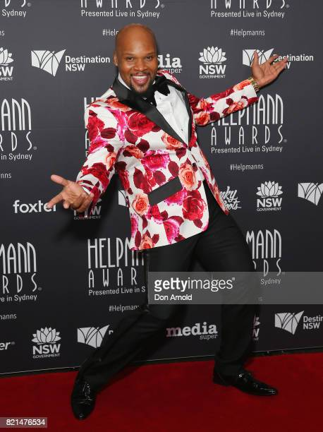 Michael James Scott arrives ahead of the 17th Annual Helpmann Awards at Lyric Theatre Star City on July 24 2017 in Sydney Australia