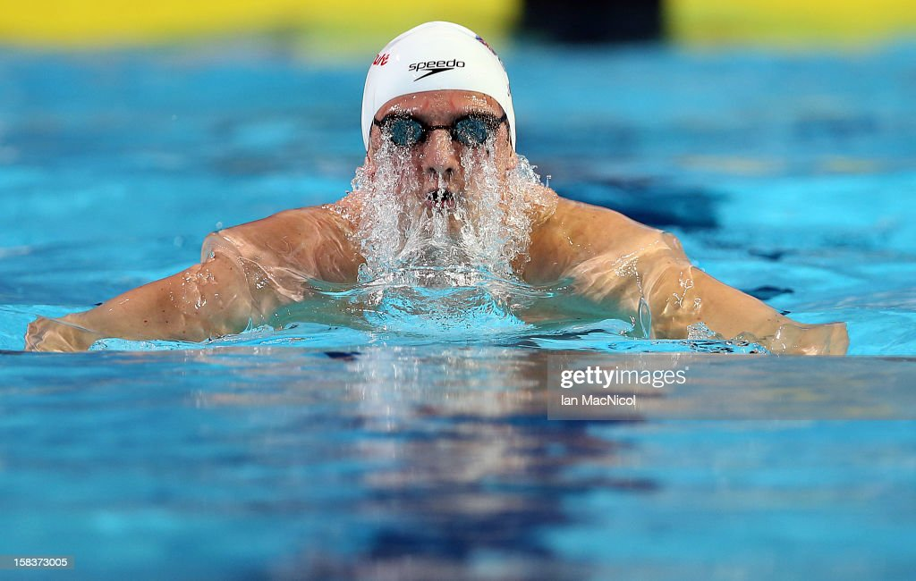 Michael Jamieson of Great Britain competes in the heats of the Men's 200m Breaststroke during day three of the FINA World Short Course Swimming Championships at the Sinan Erdem Dome on December 14, 2012 in Istanbul, Turkey.