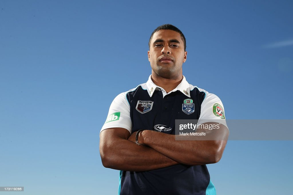 Michael Jennings poses during a New South Wales Blues State of Origin media session at Crowne Plaza Coogee on July 8 2013 in Sydney Australia