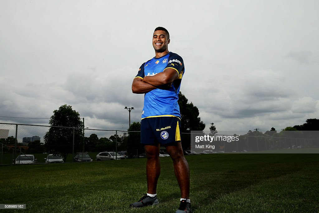 Michael Jennings poses during a Parramatta Eels NRL media opportunity at Old Saleyards Reserve on January 27, 2016 in Sydney, Australia.