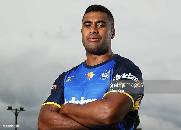 Michael Jennings poses during a Parramatta Eels NRL media opportunity at Old Saleyards Reserve on January 27 2016 in Sydney Australia