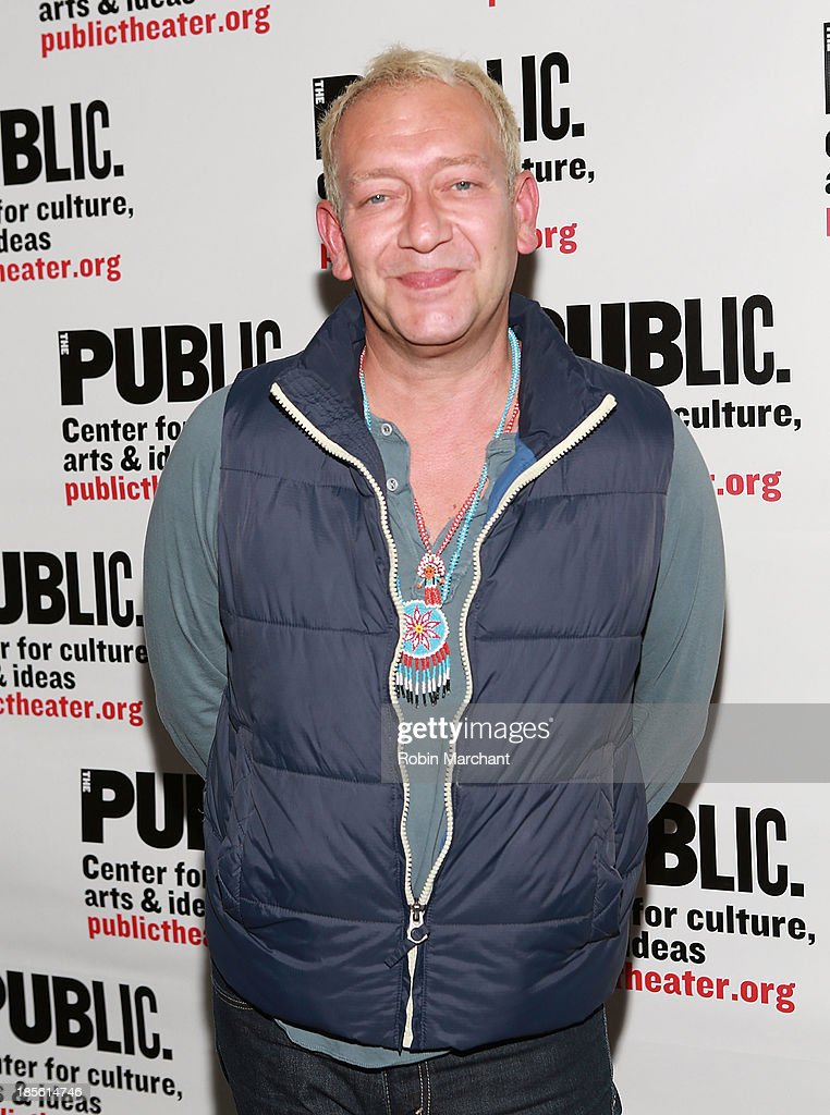 Michael John LaChiusa attends the opening night celebration of 'Fun Home' at The Public Theater on October 22, 2013 in New York City.
