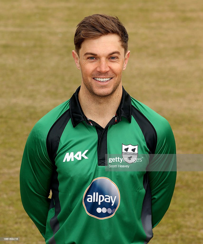Michael Johnson during a Photocall for Worcestershire County Cricket Club on April 9, 2013 in Worcester, England.