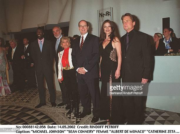 Michael Johnson 'Sean Connery' wife 'Albert De Monaco' 'Catherine Zeta Jones' 'Michael Douglas' 'Laureus World Sports Awards' party in Monaco