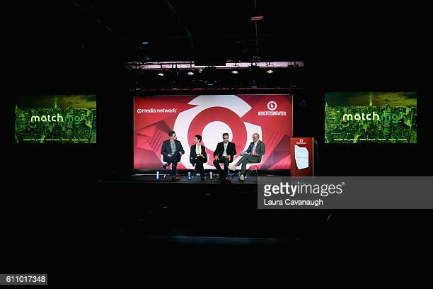 Michael Jones Liz Crawford Matthew Witt and Michael Dill speak onstage at the What's Hot in 2017 – Leveraging Changing Habits to Drive Engagement...