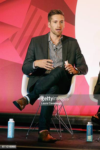Michael Jones speaks onstage at the What's Hot in 2017 – Leveraging Changing Habits to Drive Engagement panel at BB King during 2016 Advertising Week...