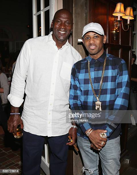 Michael Jordan and Fabolous attend An Intimate Evening With Michael Jordan And Neymar Jr on June 1 2016 in New York City