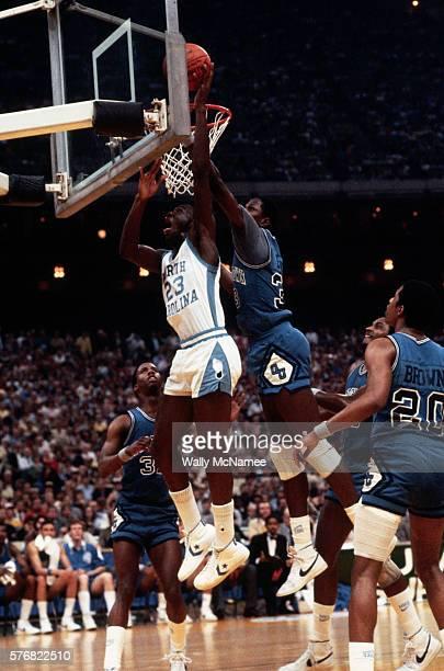 Michael Jordan and Patrick Ewing Under the Basket