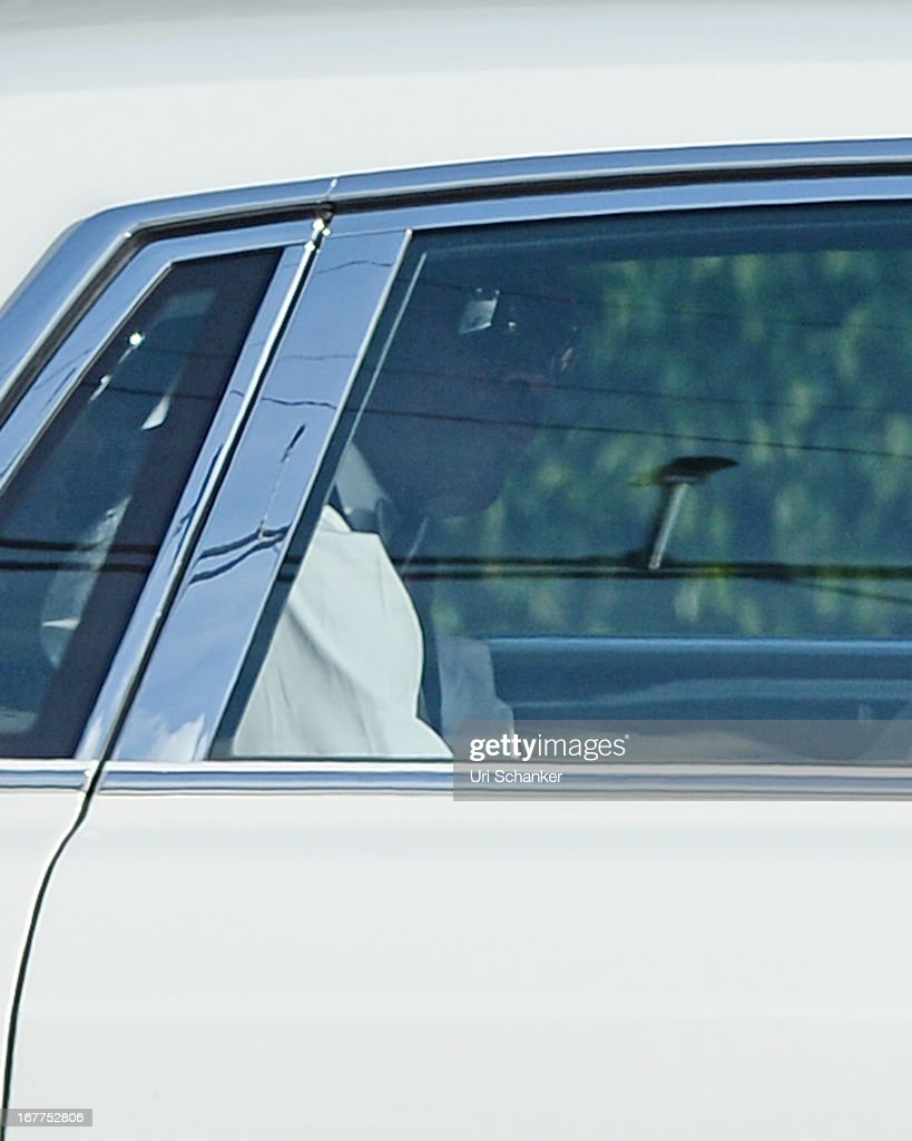 Michael Jordan arrives for his wedding at Bethesda-by-the Sea church on April 27, 2013 in Palm Beach, Florida.