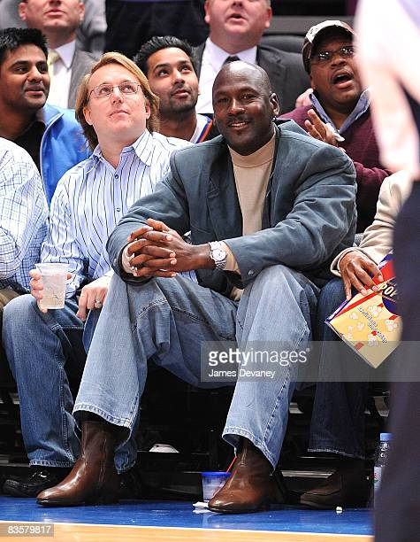 Michael Jordan attends the Charlotte Bobcats vs New York Knicks game at Madison Square Garden on November 5 2008 in New York City