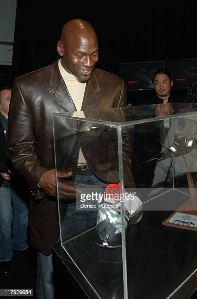 Michael Jordan during 2007 NBA AllStar in Las Vegas Michael Jordan and All Stars Celebrate The Debut Of The Air Jordan XX2 at Area XX2 at MGM Grand...