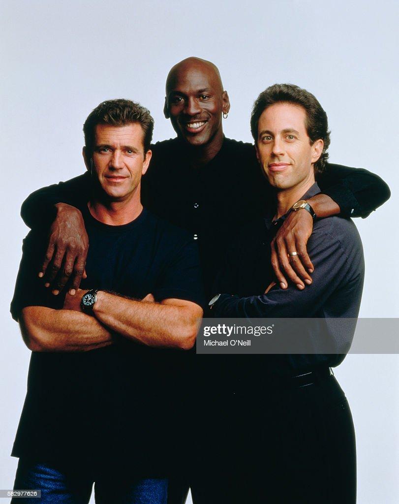 Michael Jordan, Jerry Seinfeld and Mel Gibson