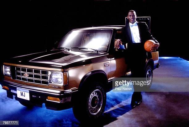 Michael Jordan of the Chicago Bulls 1986 Chicago Il
