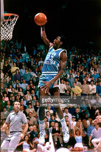 Michael Jordan of the University of North Carolina during a game in December 1981