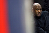 Michael Jordan owner of the Charlotte Bobcats watches on during their game against the Indiana Pacers at Time Warner Cable Arena on January 15 2013...