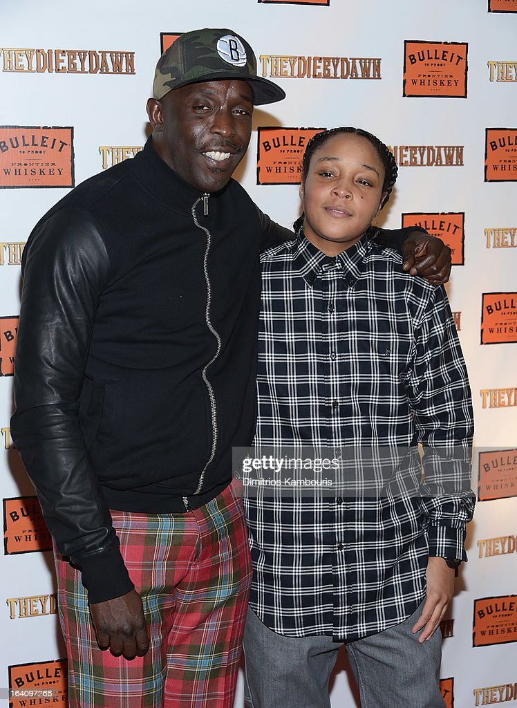 Michael K Williams and Felicia Pearson attend the 'They Die By Dawn' New York Screening at Tribeca Cinemas on March 19 2013 in New York City