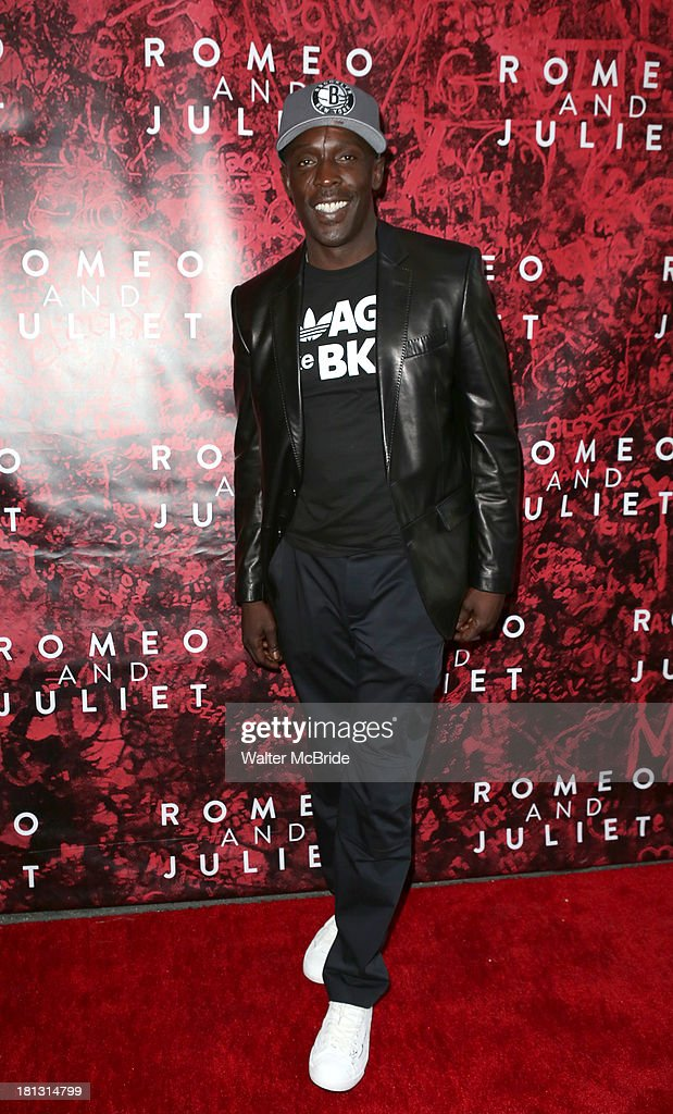 <a gi-track='captionPersonalityLinkClicked' href=/galleries/search?phrase=Michael+K.+Williams&family=editorial&specificpeople=855658 ng-click='$event.stopPropagation()'>Michael K. Williams</a> attends the 'Romeo And Juliet' Broadway Opening Night at Richard Rodgers Theatre on September 19, 2013 in New York City.