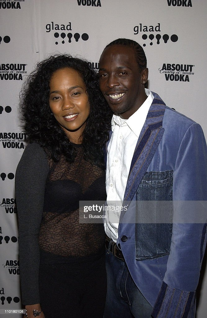Michael K Williams Sonja Sohn during The 14th Annual GLAAD Media Awards New York Arrivals at Marriott Marquis in New York City New York United States