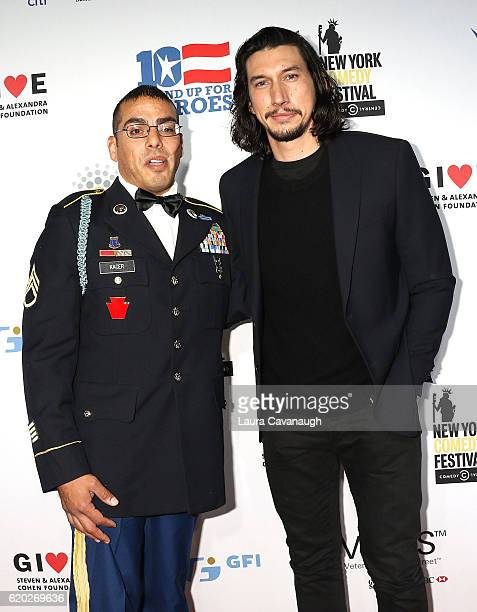 Michael Kacer and Adam Driver attend 10th Annual Stand Up For Heroes Arrivals at The Theater at Madison Square Garden on November 1 2016 in New York...