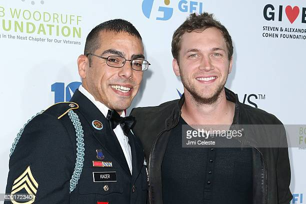 Michael Kacer and Phillip Phillips attend The New York Comedy Festival and The Bob Woodruff Foundation Present the 10th Annual Stand Up for Heroes...