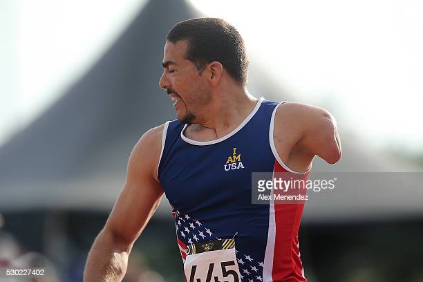 Michael Kacer is seen after a raceduring the Invictus Games Orlando 2016 Track Field Finals at the ESPN Wide World of Sports Complex on May 10 2016...