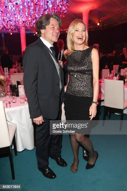 Michael Kaefer and Nina Ruge barefoot during the first INHORGENTA AWARD at Postpalast on February 19 2017 in Munich Germany