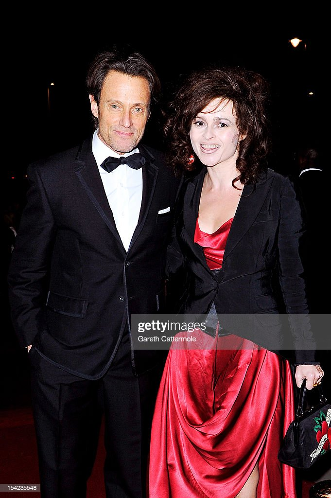 Michael Kaplan and <a gi-track='captionPersonalityLinkClicked' href=/galleries/search?phrase=Helena+Bonham+Carter&family=editorial&specificpeople=210567 ng-click='$event.stopPropagation()'>Helena Bonham Carter</a> arrive at the launch dinner for the new Hollywood Costume exhibition at the V&A Museum on October 16, 2012 in London, England. The exhibition will open from October 20th at The V&A.