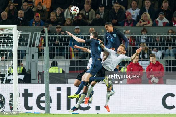 Michael Keane Joshua Kimmich of Germany und Christopher Smalling battle for the ball during the international friendly match between Germany and...