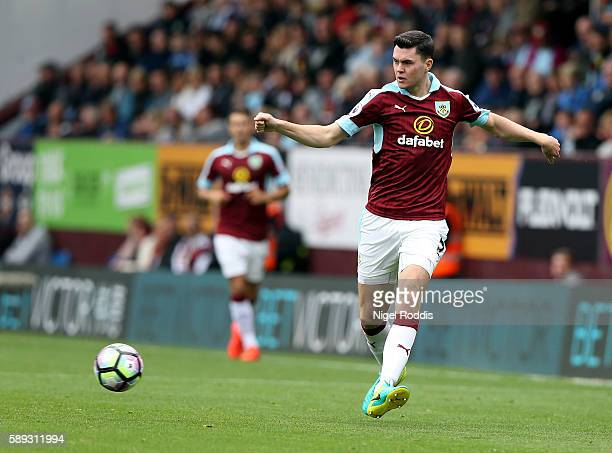 Michael Keane of Burnley during the Premier League match between Burnley and Swansea City at Turf Moor on August 13 2016 in Burnley England