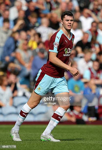Michael Keane of Burnley during the Sky Bet Championship match between Burnley and Brentford at Turf Moor on August 22 2015 in Burnley England