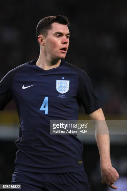 Michael Keane of England in action during the international friendly match between Germany and England at Signal Iduna Park on March 22 2017 in...