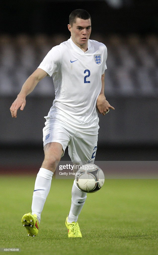 Michael Keane of England in action during the Lithuania v England UEFA U21 Championship Qualifier 2015 match at Dariaus ir Gireno Stadionas on September 5, 2014 in Kaunas, Lithuania.