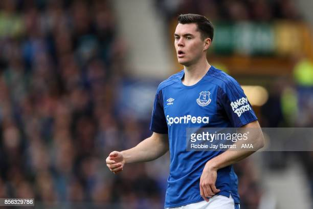 Michael Keane of Everton during the Premier League match between Everton and Burnley at Goodison Park on October 1 2017 in Liverpool England