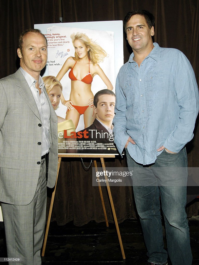 Michael Keaton and Mark Cuban during Premiere Film Music Lounge Tribeca Film Festival at PM Night Club 'One Last Thing' After Party at PM Night Club...