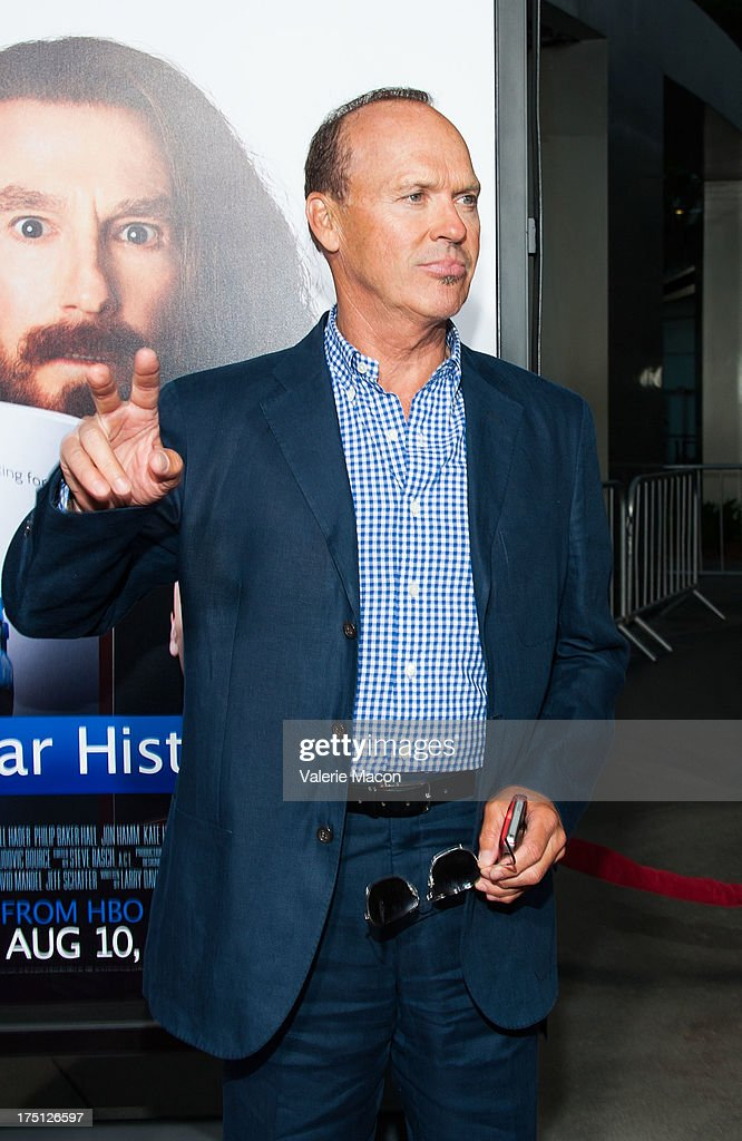 <a gi-track='captionPersonalityLinkClicked' href=/galleries/search?phrase=Michael+Keaton&family=editorial&specificpeople=206869 ng-click='$event.stopPropagation()'>Michael Keaton</a> arrives at the Premiere Of HBO Films' 'Clear History' at ArcLight Cinemas Cinerama Dome on July 31, 2013 in Hollywood, California.