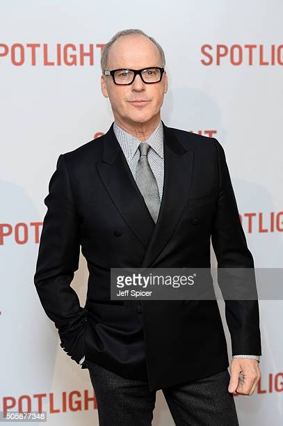 Michael Keaton arrives for the UK Premiere of Spotlight at The Washington Mayfair on January 20 2016 in London England