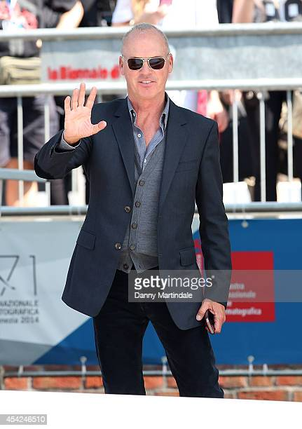Michael Keaton attends Day 1 of the 71st Venice International Film Festival on August 27 2014 in Venice Italy