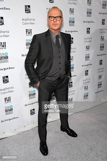 Michael Keaton attends the 25th annual Gotham Independent Film Awards at Cipriani Wall Street on November 30 2015 in New York City