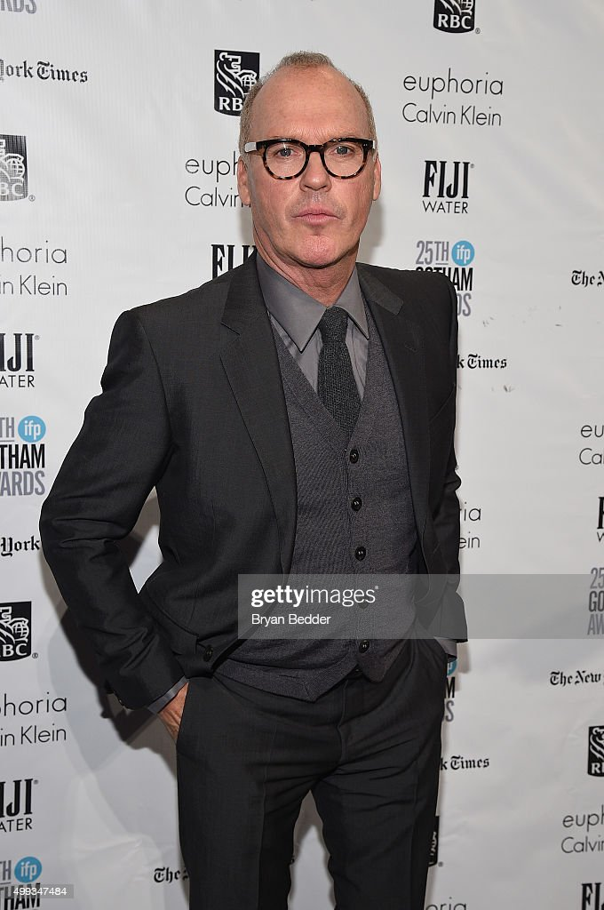 Michael Keaton attends the 25th IFP Gotham Independent Film Awards cosponsored by FIJI Water at Cipriani Wall Street on November 30 2015 in New York...