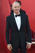 Michael Keaton attends the Opening Ceremony and 'Birdman' premiere during the 71st Venice Film Festival at Palazzo Del Cinema on August 27 2014 in...
