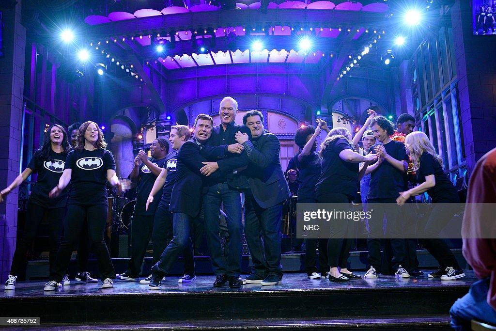 LIVE 'Michael Keaton' Episode 1679 Pictured Cecily Strong Vanessa Bayer Kenan Thompson Beck Bennett Taran Killam Michael Keaton Bobby Moynihan...