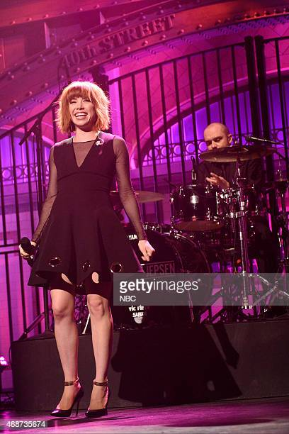 LIVE 'Michael Keaton' Episode 1679 Pictured Musical guest Carly Rae Jepsen performs on April 4 2015