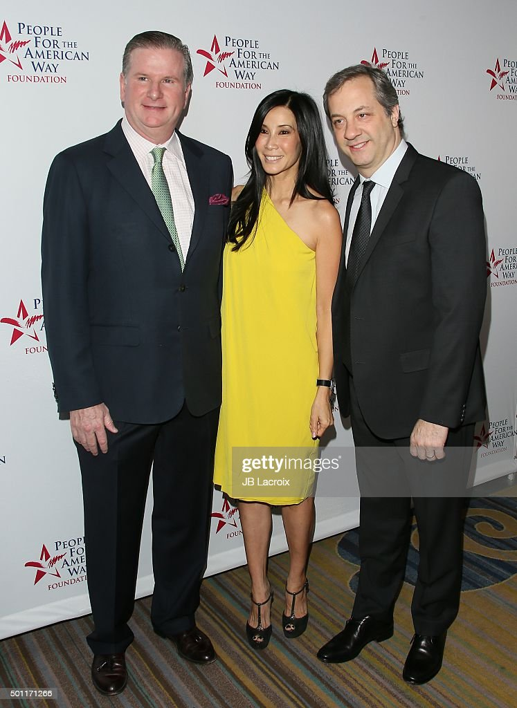 Michael Keegan Lisa Ling and Paul Song attend the 2015 Spirit of Liberty Awards Dinner on December 12 2015 in Beverly Hills California