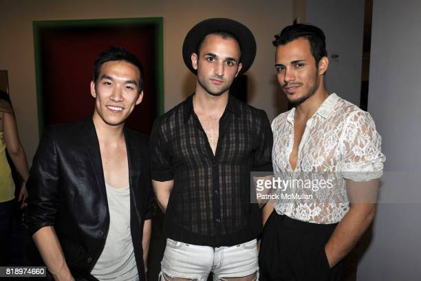 Michael Kei Young Barrett Reeves and Adriel Daniels attend Active Liberty Institute presents 'IDENTITIES' ART PARTY at Phillips de Pury Company on...