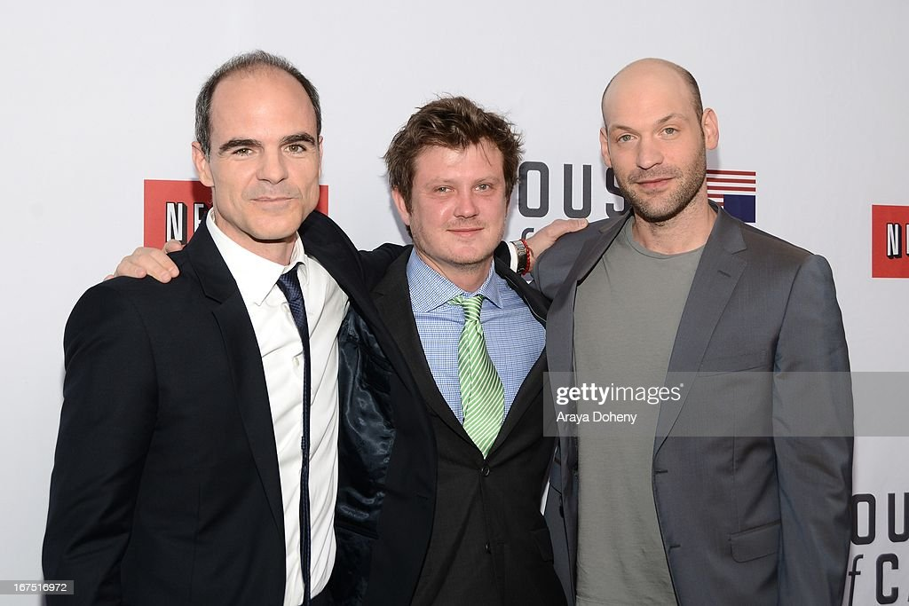 Michael Kelly, Beau Willimon and Corey Stoll arrive at the Netflix's 'House Of Cards' for your consideration Q&A event at Leonard H. Goldenson Theatre on April 25, 2013 in North Hollywood, California.