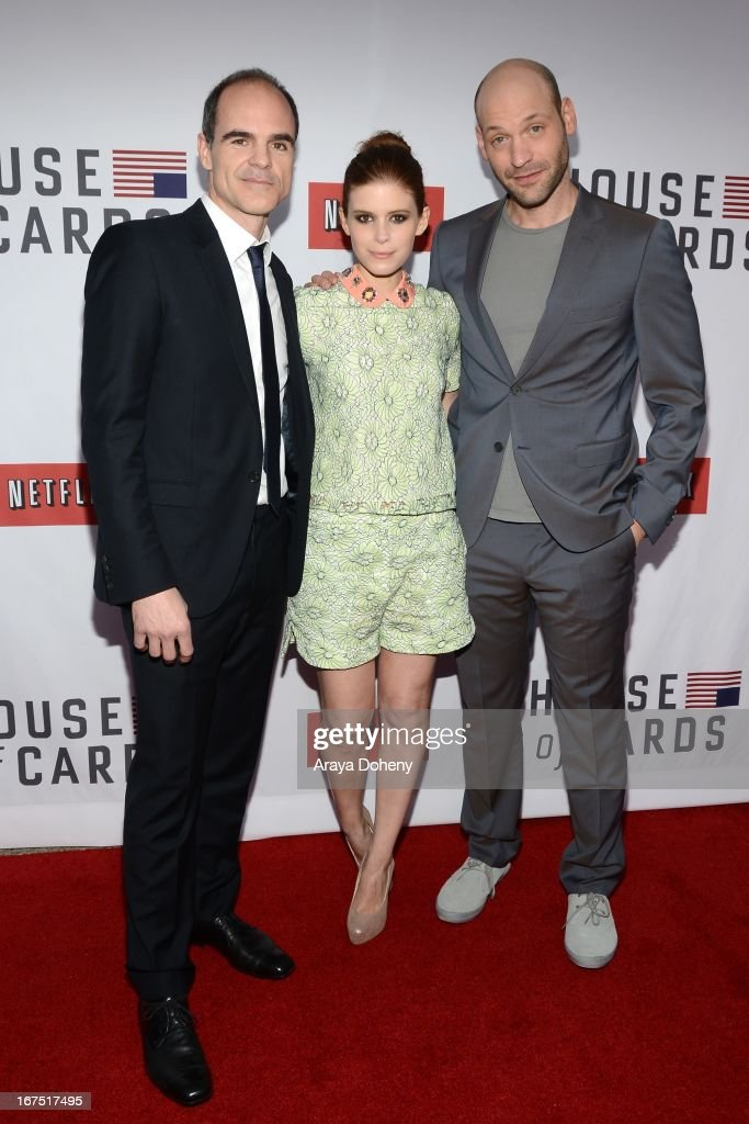 Michael Kelly, Kate Mara and Corey Stoll arrive at the Netflix's 'House Of Cards' for your consideration Q&A event at Leonard H. Goldenson Theatre on April 25, 2013 in North Hollywood, California.