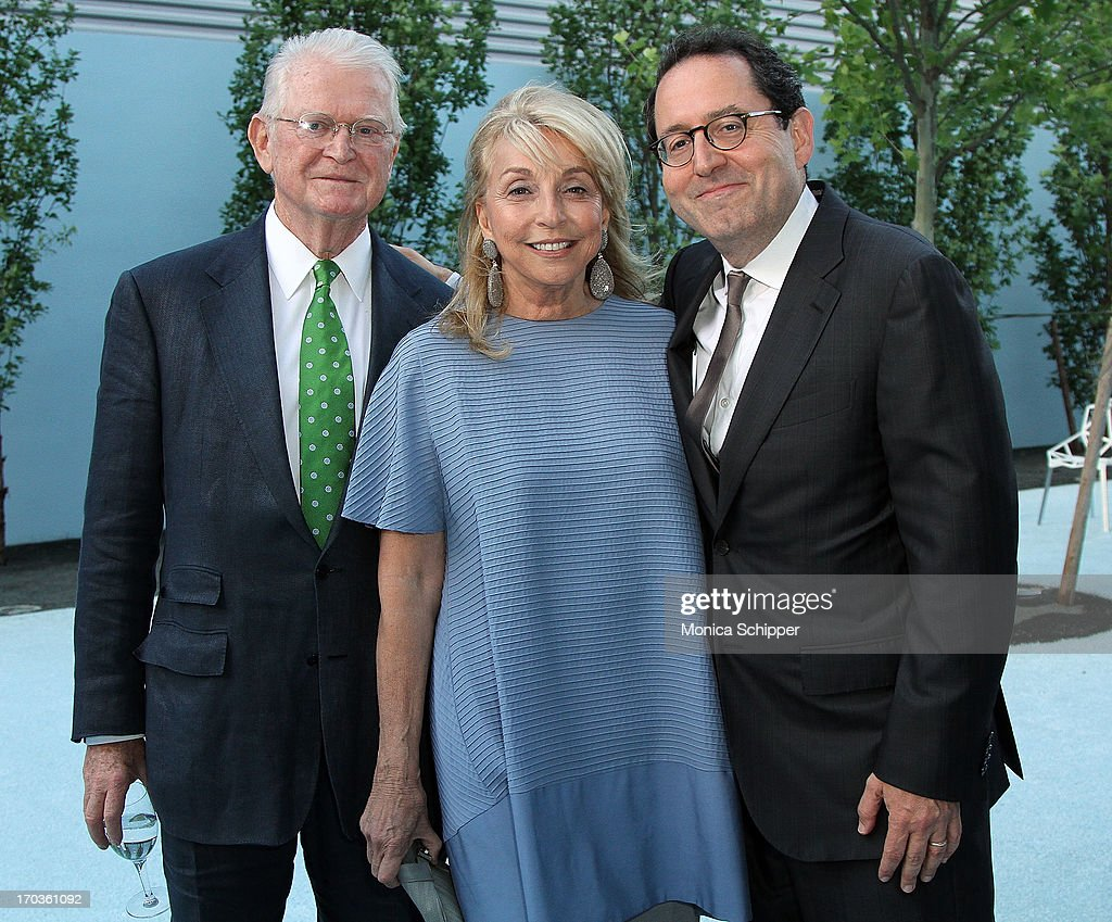 Michael Kennedy, Eleanora Kennedy and Sony Pictures Co-Founder and Co-President Michael Barker attend Museum of the Moving Image Inaugural Envision Award Gala Dinner at Museum of the Moving Image on June 11, 2013 in New York City.